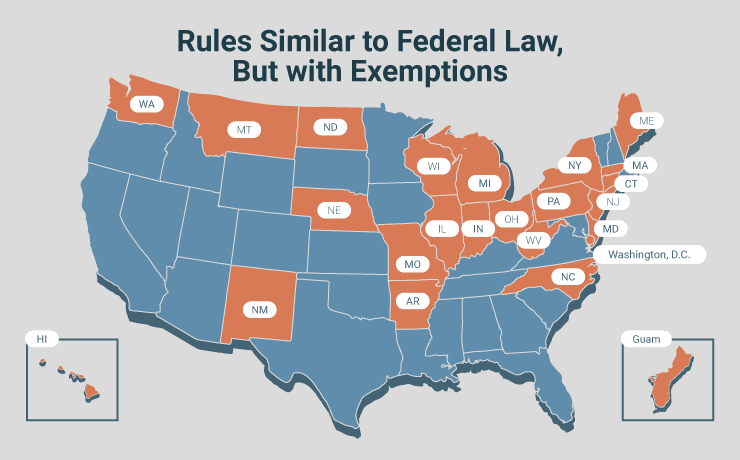 Rules Similar to Federal Law, But with Exemptions