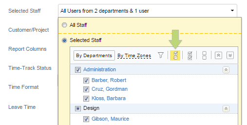 View selected user only in the user selector