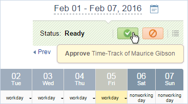 Time-Track Ready for Approval