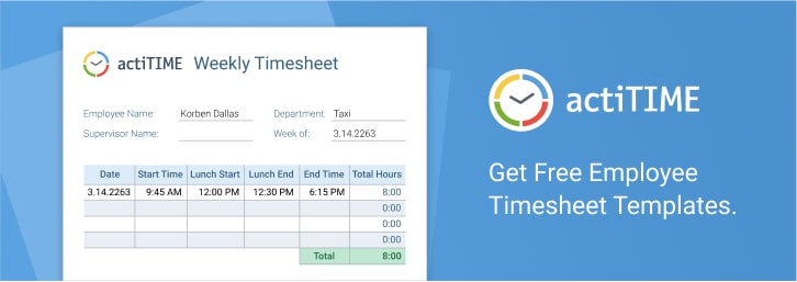 Free timesheet templates for employees
