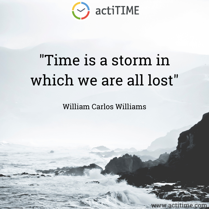 Time is a storm in which we are all lost - Quote about time by William Carlos Williams