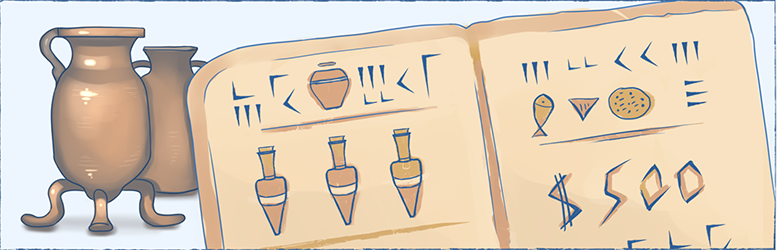 The illustration of the ancient payroll