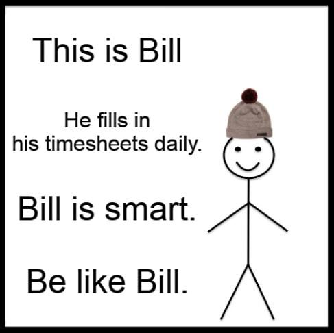 Timesheet meme for forgetfull people #1