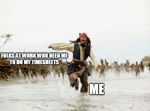 Timesheet meme for those who hate timesheets #2