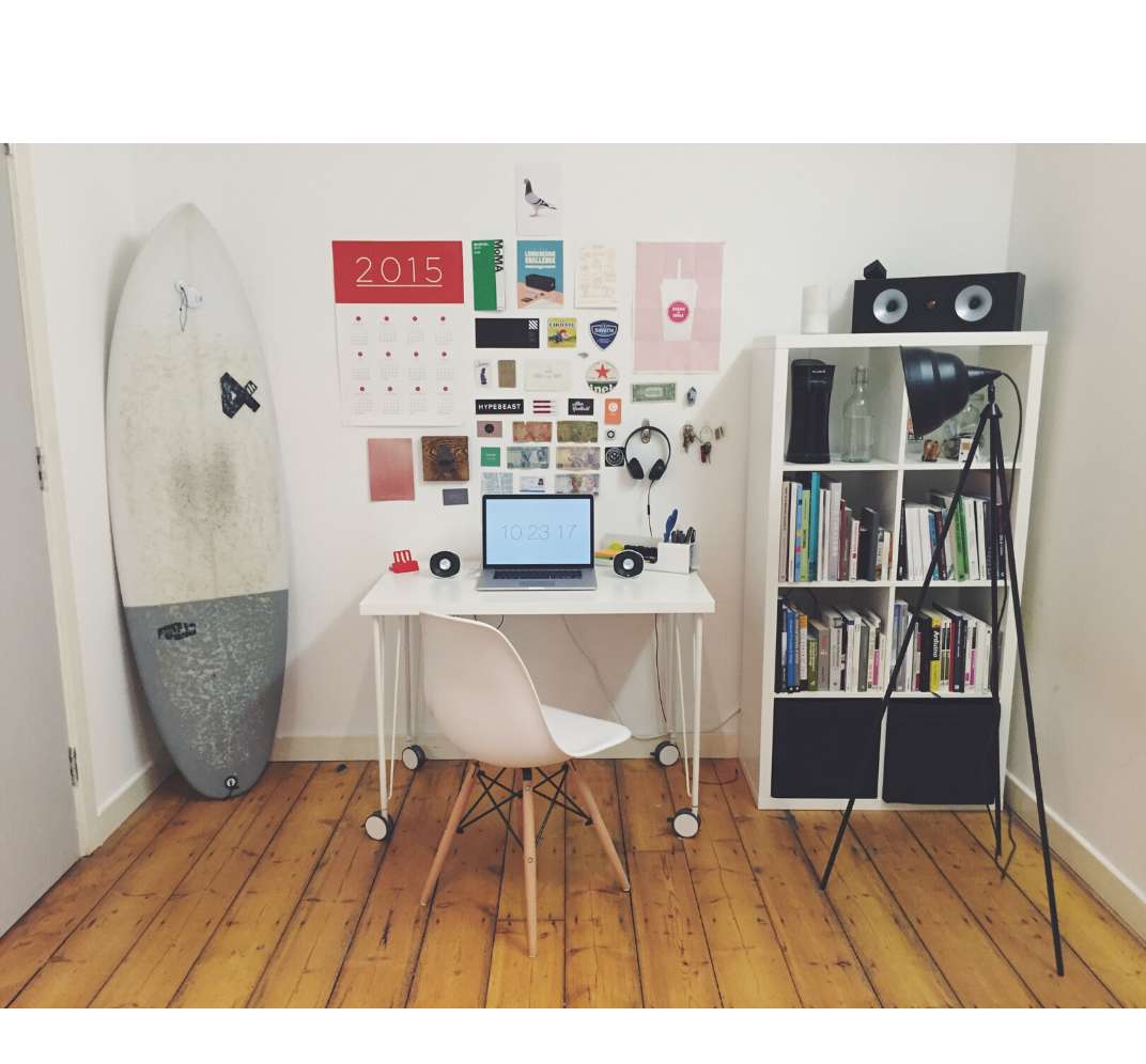 well-organized home-based office