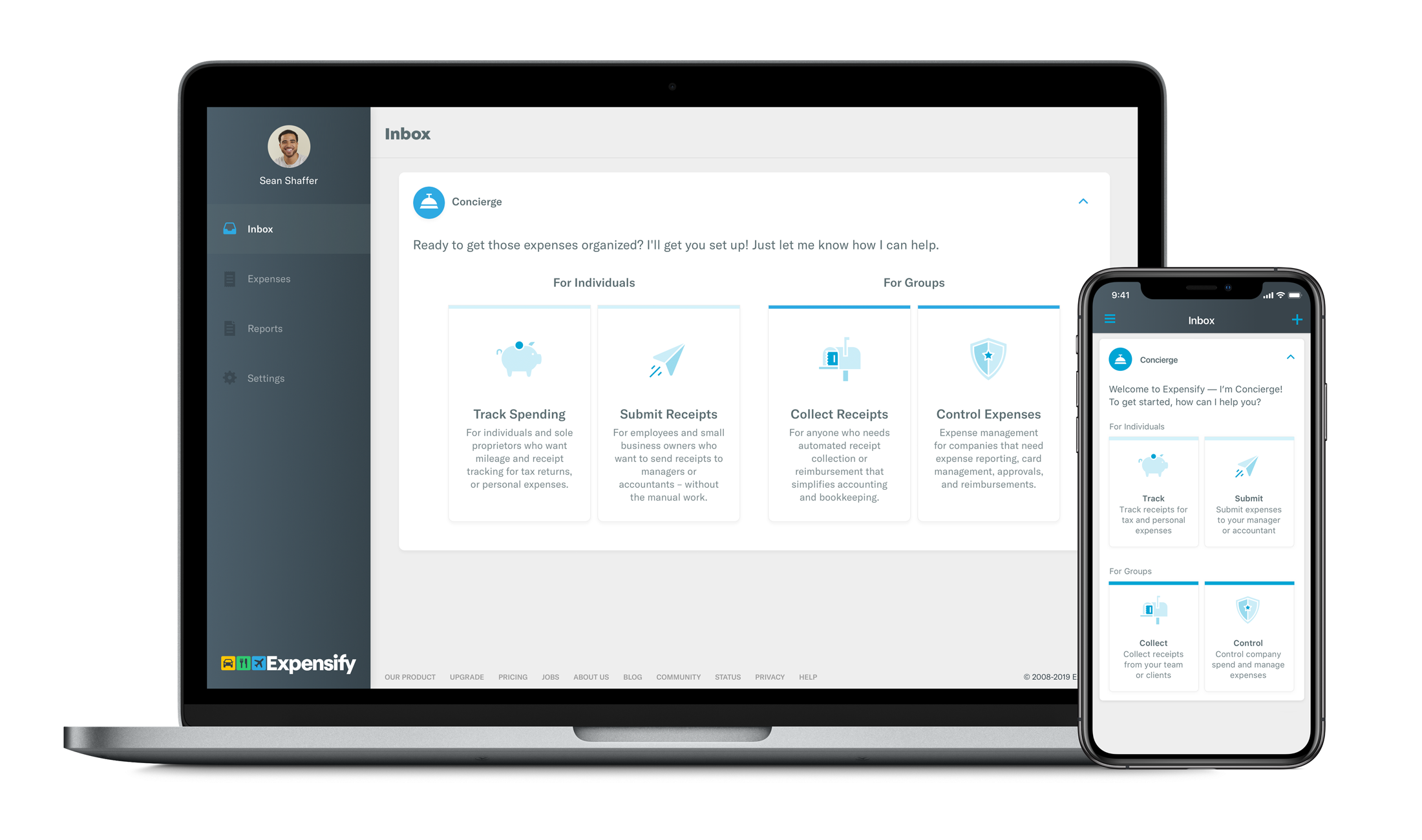 Expensify product screenshot