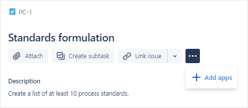 + Add apps button in Jira