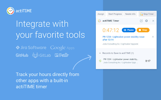 actiTIME Chrome Extension