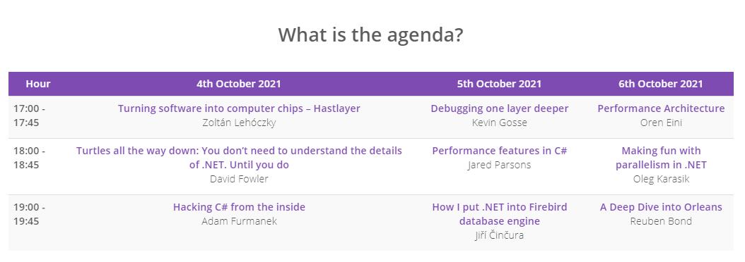 DotNetOS Conference Developer Conference