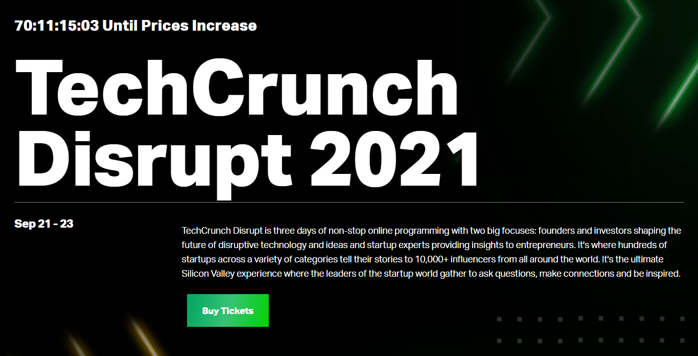 TechCrunch Disrupt 2021 Developer Conference